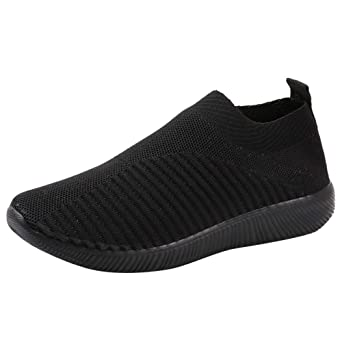 reputable site c6650 b4f25 Moonuy Chaussures de Sport en Mesh Mode Homme Femme Basket Lacets Chaussure  Running Confortable Chaussures de