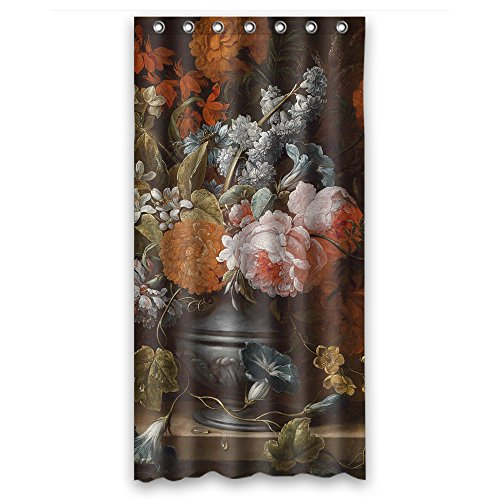 Eyeselect Famous Classic Art Painting Flowers Blossoms Polyester Bath Curtains Width X Height / 36 X 72 Inches / W H 90 By 180 Cm For Kids Boys Mother Gf Birthday Mother. Anti Bacterial.