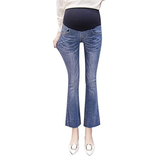 35bde9c9d634d Amazon.com: Maternity Jeans, 2019 Maternity Pregnancy Flare Pants Trousers  Jeans Elastic Long Pants Palazzo Casual Pants: Clothing