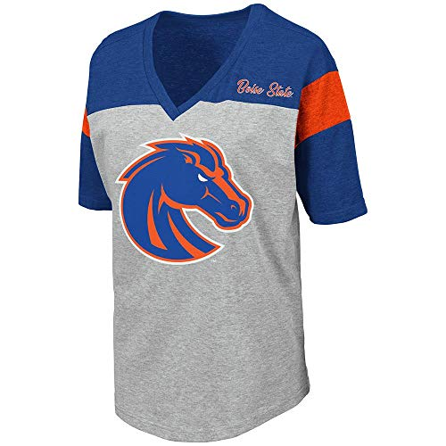 - Womens Boise State Broncos Genoa Short Sleeve Tee Shirt - L