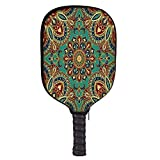 Mandala Fashion Racket Cover,Pattern with Mandala Style Eastern Medieval Arabesque Motifs Oriental Ethnic Decorative for Playground,8.3″ W x 11.6″ H