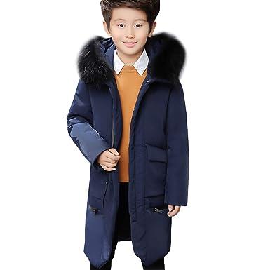 ed28fd07ca81a LPATTERN Enfant Garçon Doudoune Manteau Mi-Longue Veste d'extérieur d'hiver  Epaisse