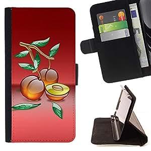 Momo Phone Case / Flip Funda de Cuero Case Cover - Frutas Melocotones Macro - Sony Xperia M4 Aqua