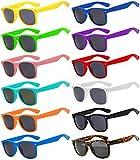 Wholesale of 12 Pack Mixed colored Frame Vintage Smoke Lens Eyeglasses OWL