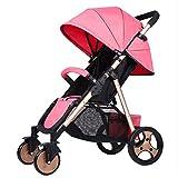 Baby Stroller Fast Simple Installation Folding Stroller Lightweight Damping EVA Big Wheel 50Kg Weight Bearing High Capacity Baby Travel Cart
