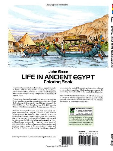 Life in Ancient Egypt Coloring Book (Dover History Coloring Book ...   500x375