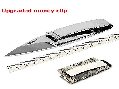 SZHOWORLD Multifunctional EDC Safeguard Protection Tool Paper Money Folding Knife Outdoor Survival Essential Camping Tool Money Clip