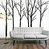 LARGE 6.6 x 9.4 ft Forest of Birch Trees | Removable Wall Decal