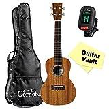 Cordoba 15CM Concert Ukulele guitarVault Bundle With Cordoba Gig Bag, Tuner, and Polishing Cloth