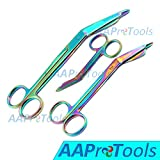 AAPROTOOLS Titanium Galaxy Rainbow 3 PC - 3.5'', 5.5'' and 7.5'' Ultimate EMS Bandage Lister Scissor Ideal for Nurses, EMT, Medic Students, Firefighter, Fisherman, Hobbiest and Taxidermy A+ Quality