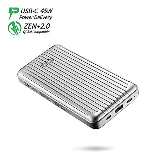 Zendure ZDA6PD-s 45W Power Delivery Portable Charger A6PD 20100mAh Ultra-Durable PD Power Bank with USB-C Input/Output, External Battery for MacBook Pro, iPhone, Silver