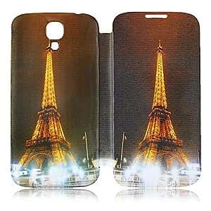 GX Torre Eiffel Estilo estuche de cuero de cuerpo completo para Samsung Galaxy S4 i9500
