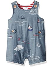 Mud Pie Baby Boys Nautical Sleevless Chambray One Piece Shortall Playwear