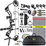 XGeek Compound Bow,with Hunting Accessories Package,CNC Milling Bow Riser,USA Gordon Composites Limb,BCY String,19''-30'' Draw Length,19-70Lbs Draw Weight,IBO 320fps (2 Years Warranty)