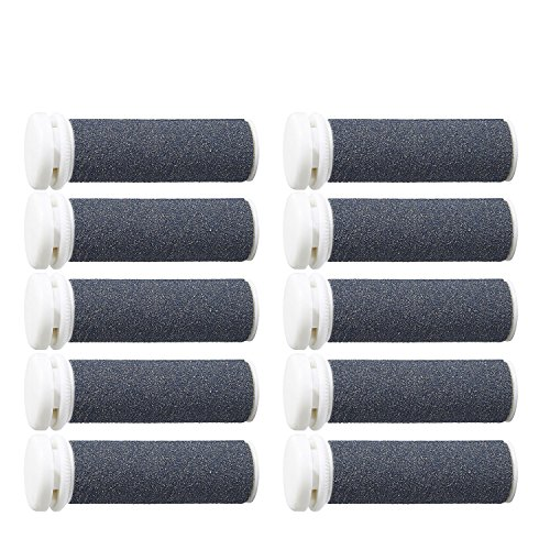 Super Coarse Micro Mineral Replacement Rollers Compatible with Emjoi Micro-Pedi Callous Remover (10PACK G)