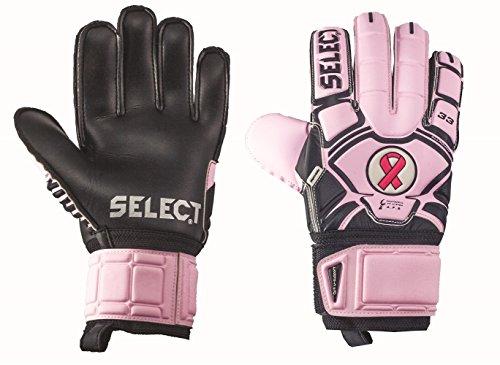 (Select 33 Cure Goalkeeper Gloves, Pink/Black, 9)