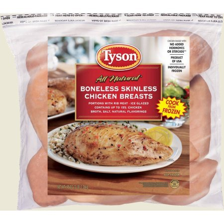 TYSON CHICKEN BREAST BONELESS SKINLESS 32 OZ PACK OF 2