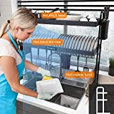 Over Sink Dish Drying Rack, Boosiny 2 Tier