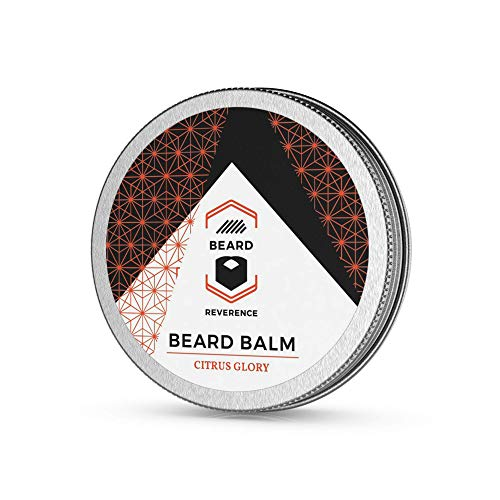 Citrus Beard Balm Enhanced with Tea Tree, Argan, Jojoba Oils - All Natural Ingredients - Sweet Orange Scented Beard Butter - Shape, Style, Condition & Soften Beards and Mustaches (Tree Beard)