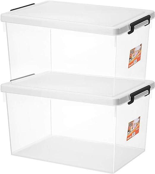 Caja de Almacenamiento Transparente/Calidad PP Plástico/con Tapa ...