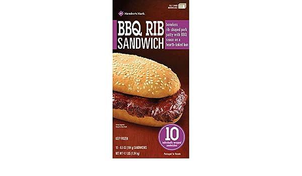 Members Mark BBQ Rib Sandwich (40 ct.): Amazon.com: Grocery & Gourmet Food