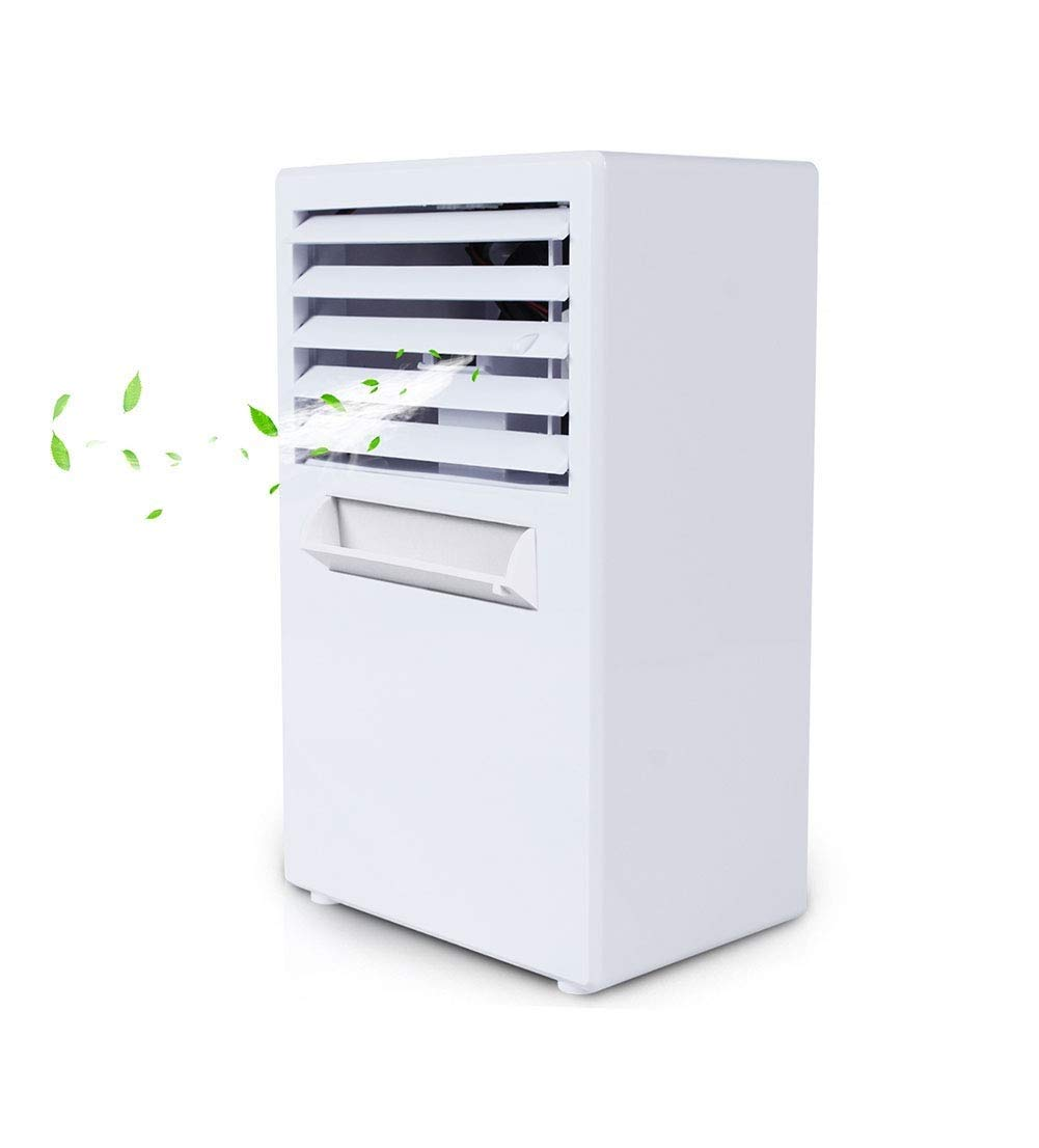 Xxyk Household air Cooler Mini Air Cooler, Portable Refrigeration Small Air Conditioner, Spray Small Fan Creative Student Dormitory Office Electric Fan (Color : White)