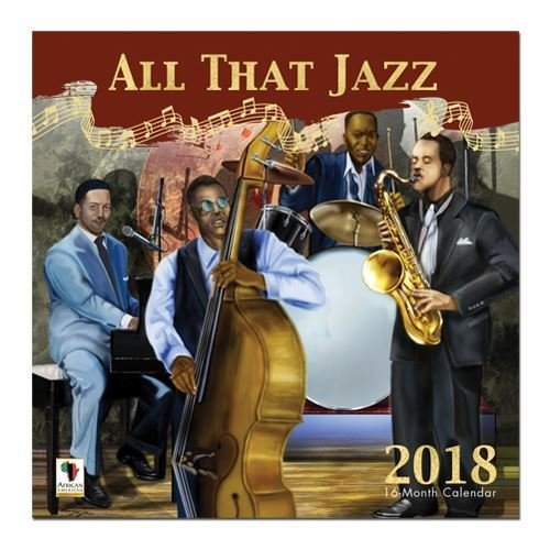 "Office Products : African American Expressions - 2018 All That Jazz 16 Month Calendar (12"" x 12"") WC-167"
