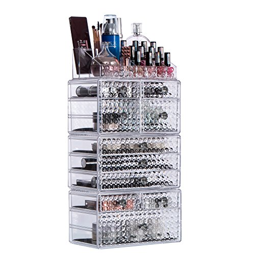 a92909a6d901 Cq acrylic Large 8 Tier Clear Acrylic Cosmetic Makeup Storage ...