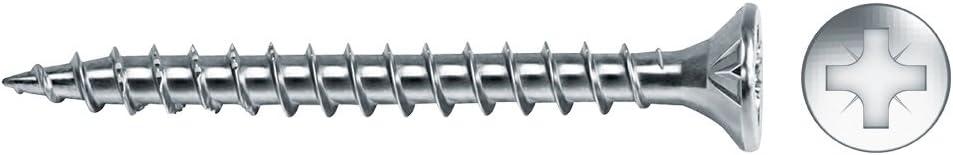 Celo 93530Vlox200 - Tornillo para Madera Velox Rosca Completa Cabeza Avellanada Impronta Pz Diámetro 3,5X30 Mm, Cincado, 200 Unidades