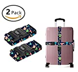YEAHSPACE Luggage Strap Dachshund Balloon Dogs 2PC Set Suitcase Betlt Travel Belts With 3-dial TSA Combination Lock