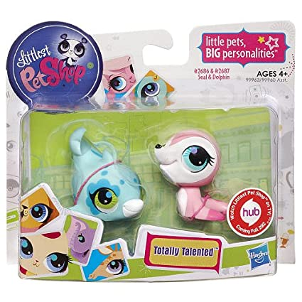 Amazoncom Littlest Pet Shop Totally Talented Pets Seal Dolphin