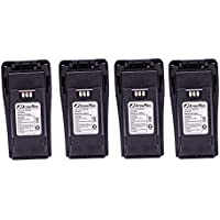 4 Pack Maxtop AMCL4970-1800-D NNTN4970 Replacement Li-ion 1800mAh Slim Battery for Motorola CP200 CP200XLS CP200D