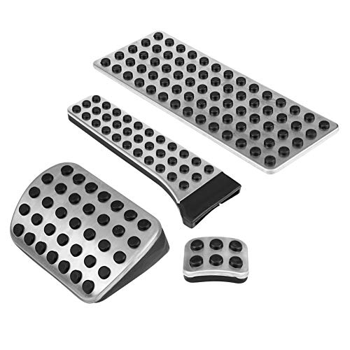 Keenso A Pair of Auto Rubber Clutch Pedal Cover Black Car Clutch Pedal Pads Car Clutch Pedal Pads