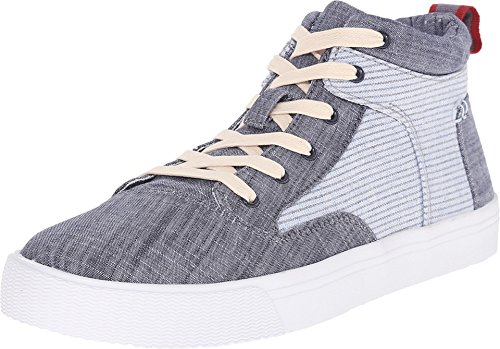 Toms Camila High Sneakers Chambray Stripe 10007908 Womens 9.5