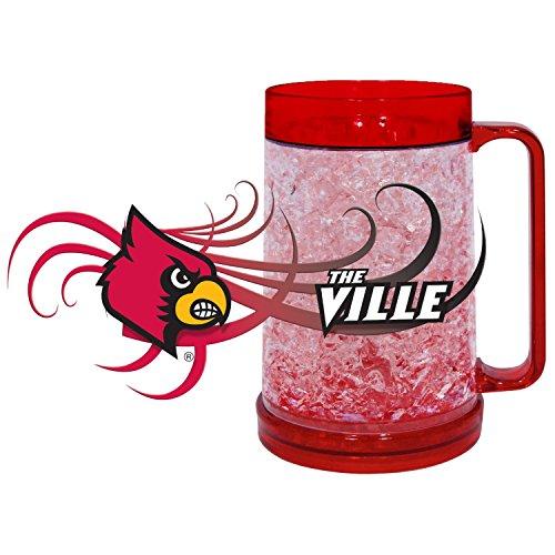 NCAA Louisville Cardinals Freezer Mug (16-Ounce), Large, Cardinal Red (Freezer Mug Cardinals)