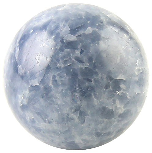 Crystal Allies Gallery: Natural Blue Calcite Ball Sphere w/
