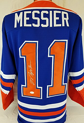 Mark Messier autographed signed Oilers jersey JSA Witness