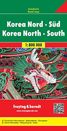 Korea North + South 1:800K FB (English, Spanish, French, Italian and German Edition)