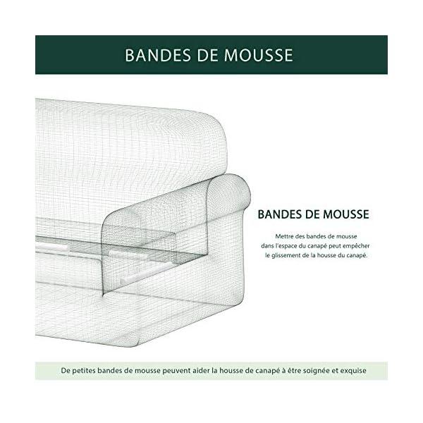 CHUN YI 1 Pièce Jacquard Housse de Canapé Extensible, Revêtement de Canapé (1 Place, Blanc)