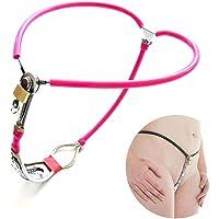 D&M Ajustable de Acero Mujer Cinturón de castidad