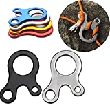 Ezyoutdoor 20 Pieces 3 Holes Stainless Camp Knot Tool Climbing Carabiner Climbing Survival Buckles Sport Outdoor Camping Survival Kit Equipment