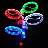 Pesp® 4pcs Glow in the Dark Light-up LED USB Data Sync Charger Cable Charging Cord for Iphone 5 5C 5S 6S 6 Plus