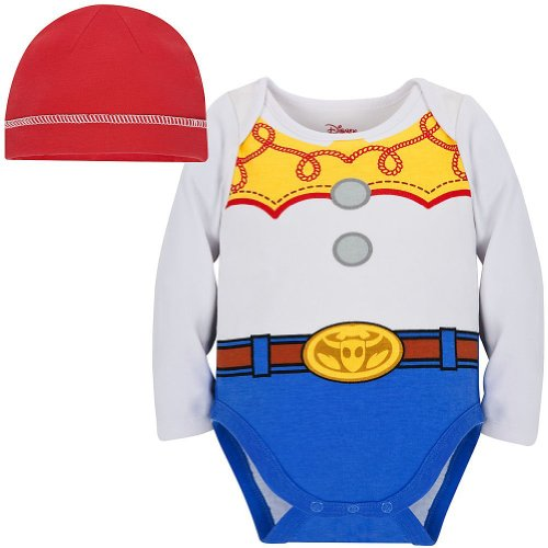 [Disney Store Toy Story Jessie Costume Bodysuit Size 3-6 Months with Hat] (Rootin Tootin Cowgirl Costume)