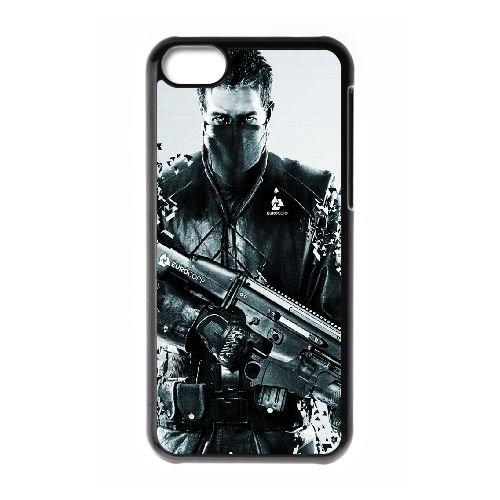 Syndicate Ea Eurocorp Shuter 103585 coque iPhone 5c cellulaire cas coque de téléphone cas téléphone cellulaire noir couvercle EEECBCAAN08971