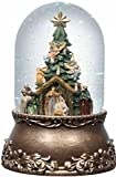 "8"" Exquisite Musical Rotating Nativity Christmas Snow Globe Glitterdome"