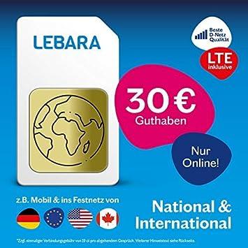 Lebara - Tarjeta SIM prepago con 30 Euros Inicio: Amazon.es: Electrónica