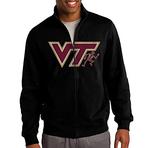 Skull Zip Fleece (Men's Virginia Tech Hokies Skull Full-Zip Fleece Jacket M)