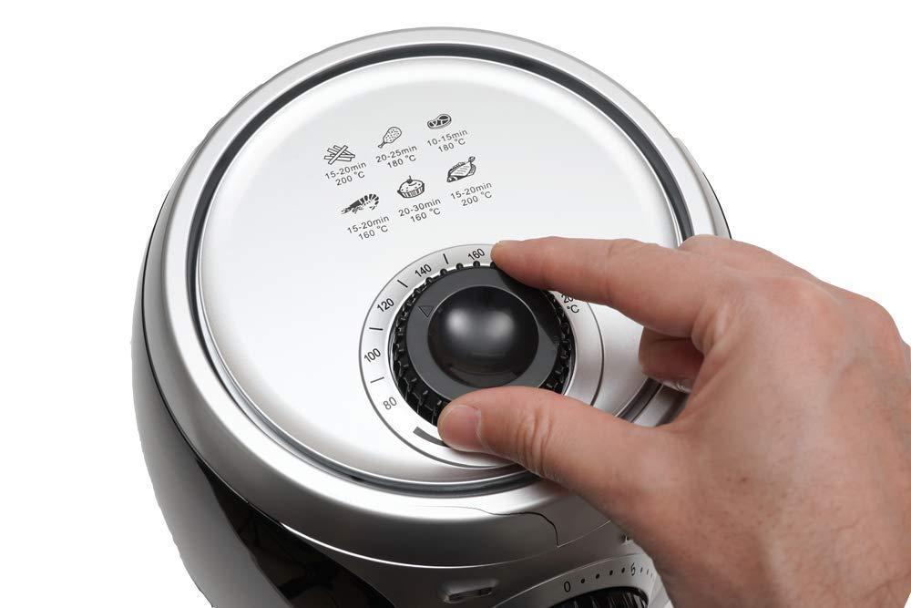 Color: Negro sin Sobrecalentamientos SOGO Air Fry Capacidad 2L 1000W con Control de Temperatura y Temporizador Freidora de Aire Caliente sin Aceite