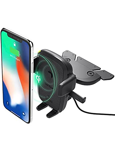 iOttie Easy One Touch Wireless Charger Slot Mount Fast Charge for Samsung Galaxy  Note Standard Charge for iPhone Devices Dual Charger