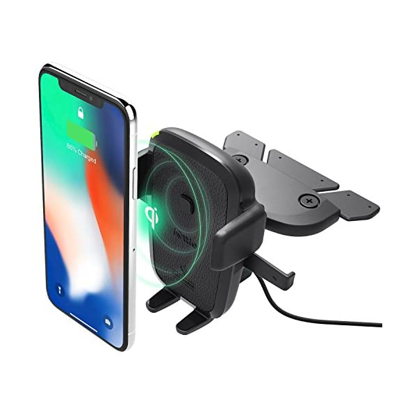 iOttie-Easy-One-Touch-Qi-Wireless-Charger-CD-Slot-Mount-Fast-Charge-for-Samsung-Galaxy-S10-E-S9-S8-Plus-Edge-Note-9-Standard-Charge-for-iPhone-XS-Max-XS-8-Plus-Qi-Devices-Dual-Charger